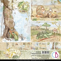 """Εικόνα του Ciao Bella  Μπλοκ Scrapbooking Διπλής Όψεως 8""""x8"""" – Aesop's Fables"""