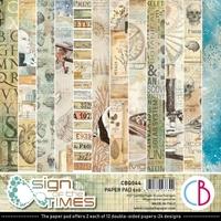"""Εικόνα του Ciao Bella Μπλοκ Scrapbooking Διπλής Όψεως 6""""X6""""– Sign Of The Times"""
