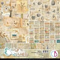 """Εικόνα του Ciao Bella Double-Sided Patterns Pad 12""""X12""""– Sign Of The Times"""
