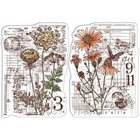 """Εικόνα του Ciao Bella Stamping Art Clear Stamps 4""""X6"""" - Botanical & Postmarks, Sign Of The Times"""