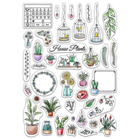 """Εικόνα του Ciao Bella Stamping Art Clear Stamps 6""""X8"""" - Bujo House Plants"""