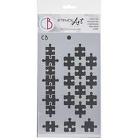"""Εικόνα του Ciao Bella Art Texture Stencil 5""""X8"""" -  Puzzle"""