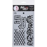 """Εικόνα του Ciao Bella Bad Girls Texture Stencil 5""""X8"""" -  One Way"""