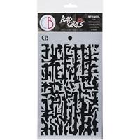 """Εικόνα του Ciao Bella Bad Girls Texture Stencil 5""""X8"""" -  Abstract Lines"""