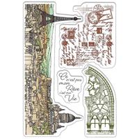 """Εικόνα του Ciao Bella Stamping Art Clear Stamps 4""""X6"""" - Notre Vie"""