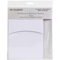Εικόνα του 49 And Market Foundations Portrait Pockets - White
