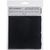 Εικόνα του 49 And Market Foundations Jagged Quarter Flip Folio - Black