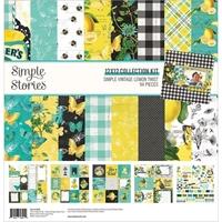 """Εικόνα του Simple Stories Double-Sided Collection Kit 12""""x12"""" – Simple Vintage Lemon Twist"""
