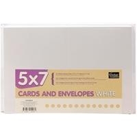 """Εικόνα του Couture Creations 5""""X7"""" Κάρτες & Φάκελοι – White"""