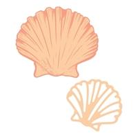 Εικόνα του Couture Creations Seaside Girl Mini Stamp & Die Set -  Flat Seashell
