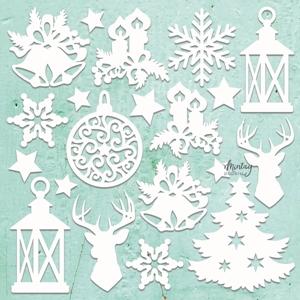 Picture of Mintay Chippies - Ξύλινα Χριστουγεννιάτικα Σχήματα - Christmas Mix