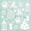 Εικόνα του Mintay Chippies - Ξύλινα Χριστουγεννιάτικα Σχήματα - Christmas Mix