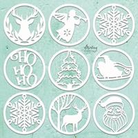 Εικόνα του Mintay Chippies - Ξύλινα Χριστουγεννιάτικα Σχήματα- Christmas Circles