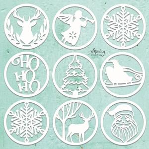 Picture of Mintay Chippies - Ξύλινα Χριστουγεννιάτικα Σχήματα- Christmas Circles