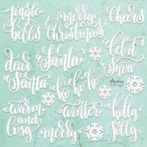 Picture of Mintay Chippies - Ξύλινα Χριστουγεννιάτικα Σχήματα - Christmas Words