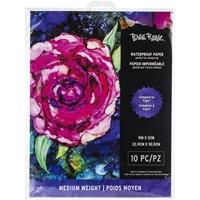 """Εικόνα του Brea Reese Waterproof Paper 9""""X12"""" Αδιάβροχο Χαρτί - Λευκό"""