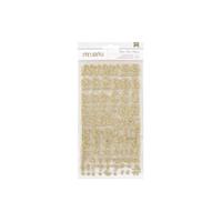 Εικόνα του American Crafts Αυτοκόλλητα Chipboard Alphabet - Gold-Glitter