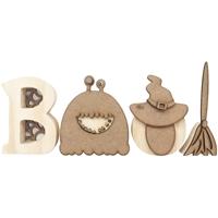 Εικόνα του Foundations Decor Chunky Wood Block Words - Boo!