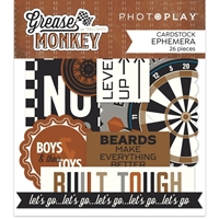 Εικόνα του Photoplay Ephemera Cardstock Die-Cuts - Grease Monkey
