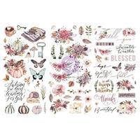 """Εικόνα του Prima Marketing Rub-On Transfers 6""""X12"""" - Hello Pink Autumn"""
