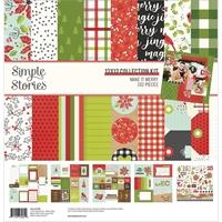 """Εικόνα του Simple Stories Double-Sided Collection Kit 12""""x12"""" – Make it Merry"""
