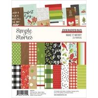 """Εικόνα του Simple Stories Double-Sided Paper Pad 6""""X8"""" – Make it Merry"""
