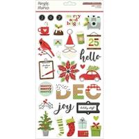 """Εικόνα του Simple Stories Αυτοκόλλητα Chipboard 6""""X12""""– Make it Merry"""