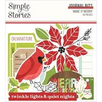 Εικόνα του Simple Stories Make It Merry Bits & Pieces Die-Cuts/60 – Make it Merry