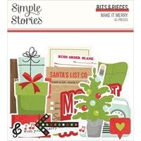 Εικόνα του Simple Stories Make It Merry Bits & Pieces Die-Cuts/61 – Make it Merry