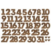 Εικόνα του Simple Stories Make It Merry Bits & Pieces Die-Cuts Numbers – Make it Merry