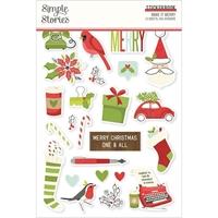 Εικόνα του Simple Stories Μπλοκ Αυτοκόλλητων – Make it Merry