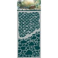 Εικόνα του Studio Light Jenine's Mindful Art New Awakening Stencil - NR. 04, Stone Walls