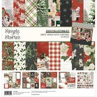 """Εικόνα του Simple Stories Double-Sided Collection Kit 12""""x12"""" – Simple Vintage Rustic Christmas"""