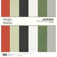 """Εικόνα του Simple Stories Basics Μπλοκ Scrapbooking Διπλής Όψεως 12""""X12"""" - Simple Vintage Rustic Christmas"""