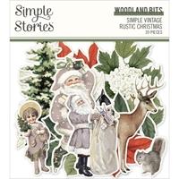 Εικόνα του Simple Stories Simple Vintage Rustic Christmas Bits & Pieces Die-Cuts -  Woodlands