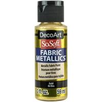 Εικόνα του SoSoft Fabric Metallics Ακρυλικο Χρώμα για Ύφασμα 59ml - Gold