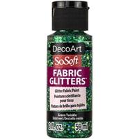 Εικόνα του SoSoft Glitters Ακρυλικό Χρώμα για Ύφασμα 59ml - Green Twinkle