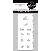 """Εικόνα του PhotoPlay Say It With Stamps Stencil 4""""X9"""" – Grass"""