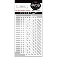 """Εικόνα του PhotoPlay Say It With Stamps Stencil 4""""X9"""" – Stripes"""