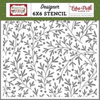 """Εικόνα του Echo Park Stencils 6""""x6""""- Christmas Branches"""
