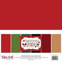 """Εικόνα του Echo Park Μπλοκ Μονόχρωμων Φύλλων Διπλής Όψης  12""""X12"""" - Christmas Magic"""