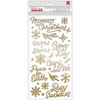 Εικόνα του Crate Paper Busy Sidewalks Thickers Stickers - Hustle & Bustle Phrase