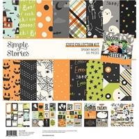 """Εικόνα του Simple Stories Double-Sided Collection Kit 12""""x12"""" – Spooky Nights"""