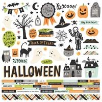 """Εικόνα του Simple Stories Αυτοκόλλητα Cardstock 12""""X12"""" - Spooky Nights"""