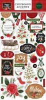 """Εικόνα του Carta Bella Chipboard Accents 6""""x13"""" -  Happy Christmas"""