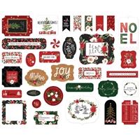 Εικόνα του Carta Bella Cardstock Ephemera – Happy Christmas, Icons