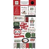 """Εικόνα του Carta Bella Chipboard Accents 6""""x13"""" -  Home for Christmas, Phrases"""