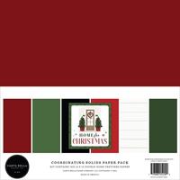 Εικόνα του Carta Bella Μπλοκ Μονόχρωμων Φύλλων Διπλής Όψεως 12''x12'' - Home for Christmas