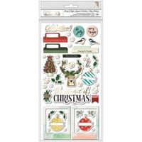 Εικόνα του Vicki Boutin Warm Wishes Thickers Αυτοκόλλητα - Merry & Bright Phrases & Icons/Chipboardk