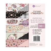 Εικόνα του Prima Marketing Double-Sided Paper Pad 6''x6'' – Hello Pink Autumn